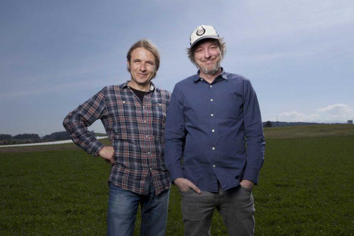 Erhalten den Beitrag «Wertschätzung» für den Tonverein Bad Bonn: Daniel Fontana und Patrick Boschung